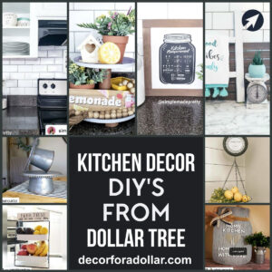 Kitchen Decor DIY Dollar Tree cover