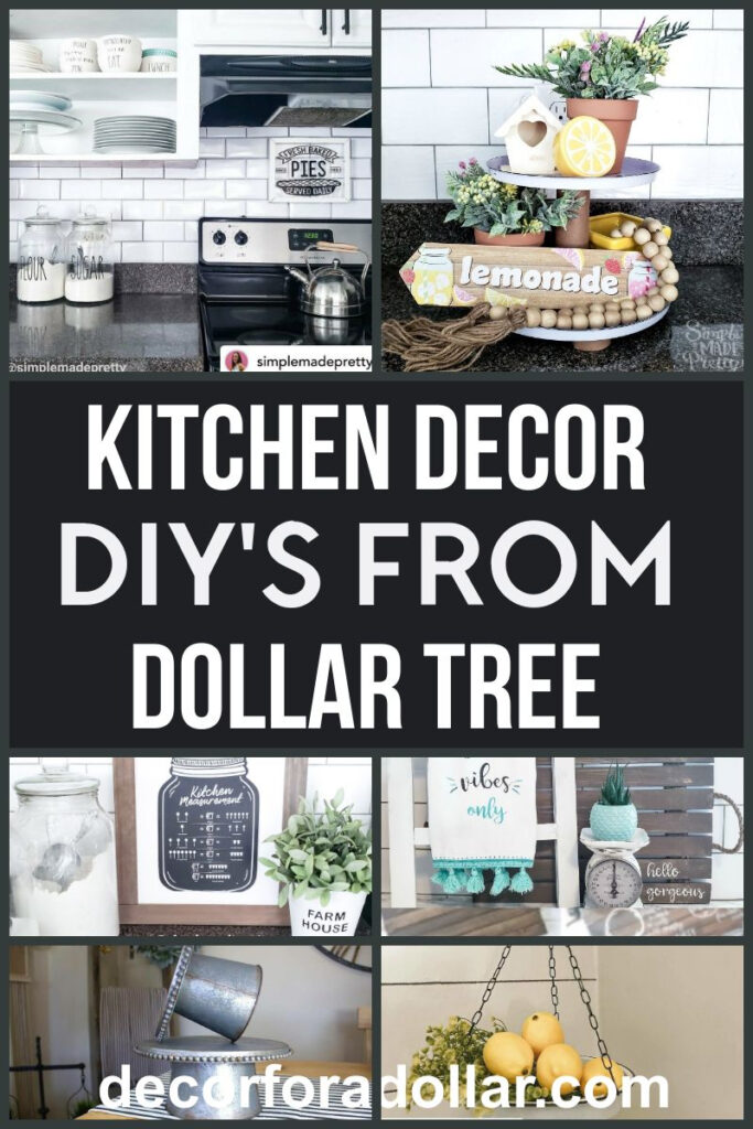 Kitchen Decor DIy Dollar Tree Pin